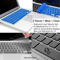 """NEW Thin TPU Keyboard Cover Skin for Macbook Air Pro Retina 13"""" 15"""" (2 Pack)"""