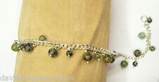 Bracciale in Argento 925 con Agata naturale - Braccialetto Pietre Dure -