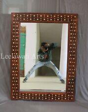Antique Wooden Bone Inlay Mirror Frame