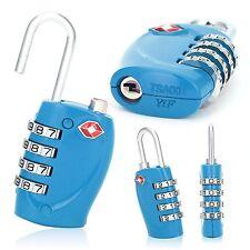 2 x TSA 4-Dial Security Combination Travel Suitcase Luggage Bag Code Lock blue