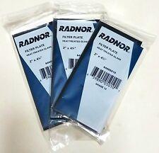 """RADNOR Shade 12 Glass Filter Plate Lens 2"""" x 4 1/4"""" Welding Helmet Hood Lot of 3"""