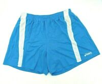 Asics Mens Medley Running Shorts Light Blue W/Drawstring & Inner Liner Size L