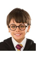 Official Harry Potter Wizard Geek Black Round Clear Glasses Specs Fancy Dress