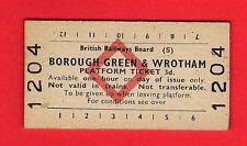 Platform Ticket ~ BRB(S) - Borough Green & Wrotham - 3d: Red Diamond - 1977