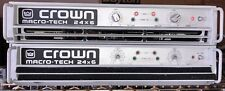 LOT OF 2 CROWN MACRO-TECH 24X6 SERIES POWER AMPLIFIER TESTED