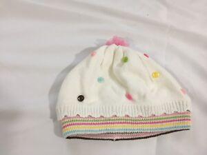 Gymboree Sweater Knit Cupcake Cutie Polka Dot Button Hat 6 12 Month HTF