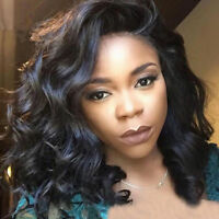 Black Short Curly Hair Lace Front Wigs Women African Glueless Full Wigs