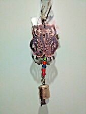 Hello Fall Metal Owl Wind chime Bell Hanging Decoration
