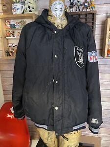 Vintage Oakland Angeles Raiders Starter Parka Football Jacket hooded NFL S