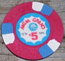 $5 VINTAGE 1976 4TH EDT GAMING CHIP FROM THE MGM GRAND CASINO LAS VEGAS
