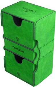 Stronghold Deck Box 200+ Card Green GameGenic Asmodee NEW
