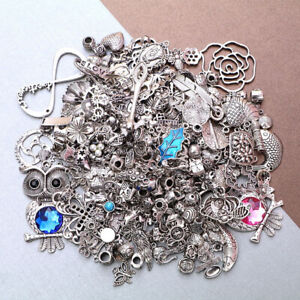 Wholesale 50g Mixed Tibetan Silver Charms Pendants For DIY Jewelry Making Craft
