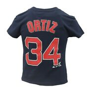 Boston Red Sox Official MLB Majestic Kids & Youth Size David Ortiz T-Shirt New