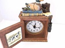 Duck Hunters Clock /Battery Powered/12-Hour 1998 Poly resin