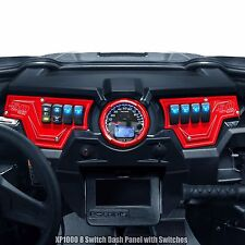 Red 2 Pc Polaris RZR XP 1000 900 S Dash Panel with Switches 50 Caliber Racing