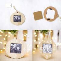 Wooden Christmas Tree Pendant Photo Booth Prop Hanging Ornaments Party Decor MP