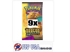 Dragon Majesty 9 Booster Pack Lot 1/4 Booster Box Pokemon TCG