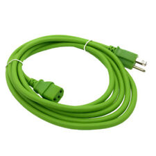 Green 10 FT COMPUTER POWER SUPPLY AC CORD CABLE WIRE FOR HP DELL ACER DESKTOP PC