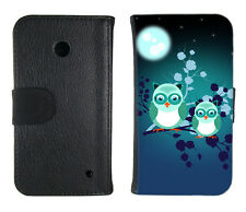 Book Tasche für Handy Design Schutz Hülle Case Cover Bumper Etui Motiv owl Eule