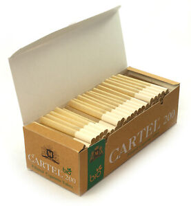 Cartel Bio unbleached filtered Cigarette tubes - 1 box with 200 tubes