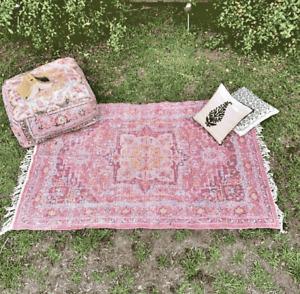 Afghan Turkish Rug, Floor Area Moroccan Handmade Woven Area Rugs Carpet Mat Rugs