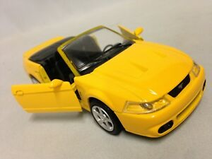 """2003 Ford Mustang SVT Cobra Collect 5.75"""" DieCast 1:32 NewRay Toy Yellow"""