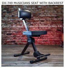 DX-749 Quik Lok Musician's Stool w/ ADJ Backrest Ships FREE to Most US Zip Codes