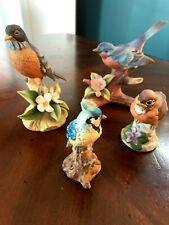 Vintage Set Of Andrea /Sadek Porcelain Bird Figurine Birds Figurines Robin