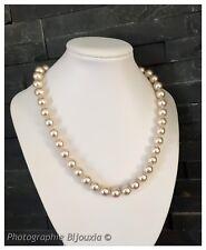 Collier Perle De Majorque Large Fermoir Bouée Plaqué Or 18 CARATS Bijoux Femme