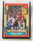 1986-87 Fleer Basketball Akeem Olajuwon #82 RC NM-MT+ Hakeem Very Sharp Card!