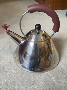 Alessi Michael Graves Kettle with Bird Whistle, Brown Handle