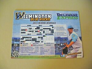 MILB - Wilmington Blue Rocks 2013 Magnetic Schedule - NEW