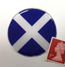 Scottish Saltire Flag Sticker Super Shiny Domed Finish 50mm Diameter Scotland