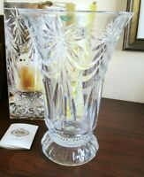 "Large Shannon Crystal 12"" Contessa Hurricane / Vase, Lead Crystal by Godinger"