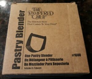 New Pampered Chef Pastry Blender Stainless Steel #1680