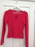 Dorothy Perkins womens Pink Fine Ribbed Jumper size 14 New