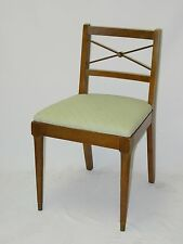 EARLY 20c ANTIQUE REGENCY STYLE PARLOR SIDE CHAIRS w/ CROSS IRON BACK