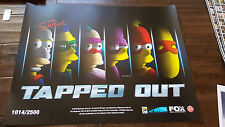 2016 SDCC COMIC CON EXCLUSIVE FOX POSTER THE SIMPSONS TAPPED OUT NUMBERED / 2500