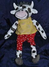 Peluche Doudou Vache IKEA Blanc Noir Short Rouge + Haut Vaca Cow Kuh 36 Cm TTBE