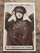 WWI PC GIRL IN GREATCOAT & PEAKED HAT - THE MILITARY MISS TO CAPTIVATE THE ENEMY