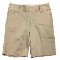Old Navy Womens Shorts sz 4 Tan Khaki Casual Work Stretch New MSRP $24.50 J18