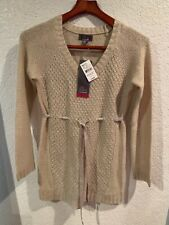Oh Baby By Motherhood Maternity Tan Cable Knit Sweater S NWT $56