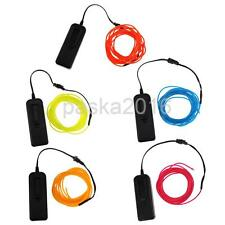 Pack of 5 3 Meters Flexible LED Neon Light Glow EL Wire Rope Camp Decor #6