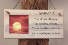 PERSONALISED PHOTO PLAQUE Memorial, In Loving Memory, Remembrance of a loved one
