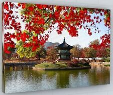 CHINESE GARDEN TEMPLE CANVAS PICTURE PRINT WALL ART CHUNKY FRAME LARGE 264-2
