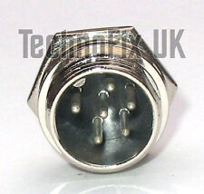 6 pin microphone connector locking chassis panel socket mike (GX16-6)