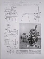 5 In. Hack Sawing Machine: Milnrow, Rochdale: 1908 Engineering Magazine Print