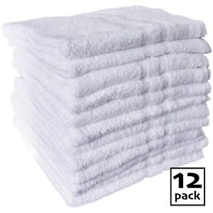 12X Bath Towels Bale Set White | Hotel Quality Towels Organic Cotton Super Soft