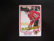 1981-1982 O-PEE-CHEE Denis Savard #63 Hockey Card Chicago Blackhawks ROOKIE CARD