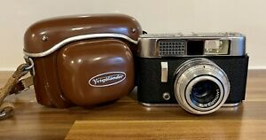 Voigtlander Vito CL Vintage 35mm Film Camera Lanthar f2.8 50mm Lens + Case